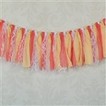 Peach and Coral Fabric Garland