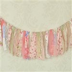 Vintage Pink Flowers Fabric Garland
