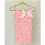 Light Pink Lace Petti Romper