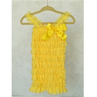 Yellow Lace Petti Romper