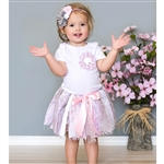 Pink & Gray Tutu & Headband Set