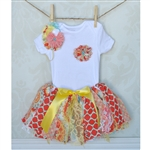 Peach Tutu & Headband Set