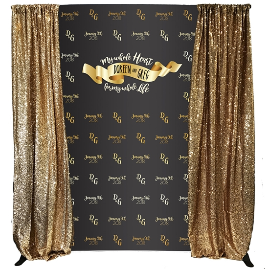 """My Whole Heart"" Custom Backdrop Kit"
