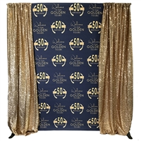 Golden Years Custom Birthday Backdrop Kit