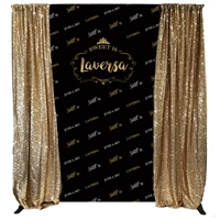 black gold custom birthday backdrop kit