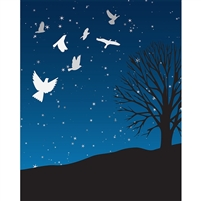 Starlit Doves Printed Backdrop