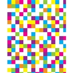 Retro Colored Squares Printed Backdrop