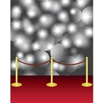 Red Carpet Flashbulbs Printed Backdrop