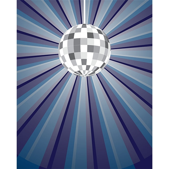 Disco Ball Printed Backdrop
