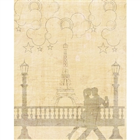 Classical Eiffel Tower Printed Backdrop