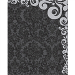 Gray Damask Wallpaper Printed Backdrop