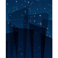 Starlight Illusion Printed Backdrop - Poly Paper - 5ft (w) x 9ft (h)