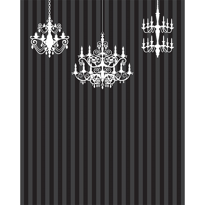Elegant Chandeliers Printed Backdrop