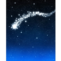 Falling Star Printed Backdrop