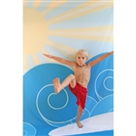 Sunshine Surfer Poseable Printed Backdrop