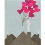 Floating In Love Poseable Printed Backdrop