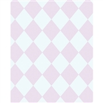 Pink & White Argyle Printed Backdrop
