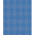 Blue & Gray Argyle Printed Backdrop
