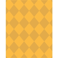 Yellow/Gold Argyle Printed Backdrop