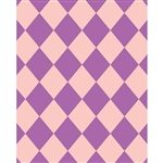 Purple & Peach Argyle Printed Backdrop