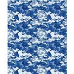 Blue Camouflage Printed Backdrop