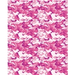 Pink Camouflage Printed Backdrop