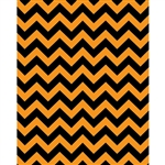 Black/Orange Chevron Printed Backdrop