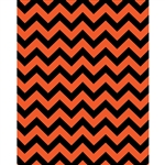 Orange/Black Chevron Printed Backdrop