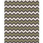 Olive, Cream & Dark Gray Chevron Printed Backdrop