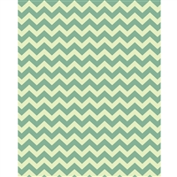 Light Green & Yellow Chevron Printed Backdrop