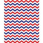 Red, White & Blue Chevron Printed Backdrop