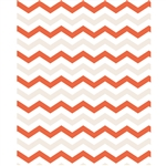 Pumpkin Orange & White Chevron Printed Backdrop