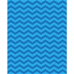 Aquamarine Chevron Printed Backdrop