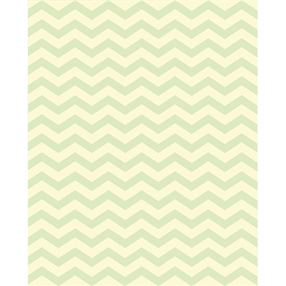 Spring Leaves Green & Yellow Chevron Printed Backdrop