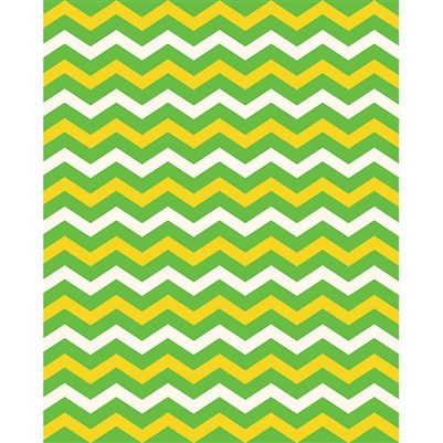 Bright Green & Yellow Chevron Printed Backdrop
