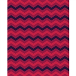 Black Cherry Red Chevron Printed Backdrop