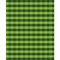 Green Plaid Printed Backdrop