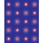 Retro Starbursts Printed Backdrop