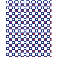 White Checkerboard Polka Dots Printed Backdrop