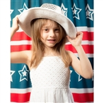 Vintage Stars & Stripes Printed Backdrop