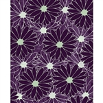 Large Purple Flowers Printed Backdrop