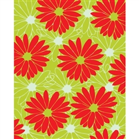 Large Red/Green Flowers Printed Backdrop