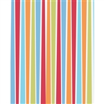 Blue, Red, & Orange Striped Printed Backdrop
