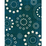 Blue Starburst Printed Backdrop