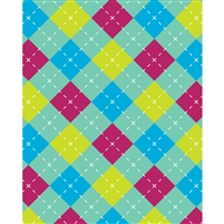 Pastel Argyle Patterned Printed Backdrop