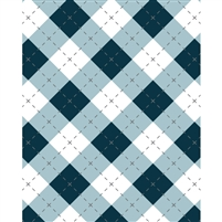 Ultramarine Blue Argyle Patterned Printed Backdrop