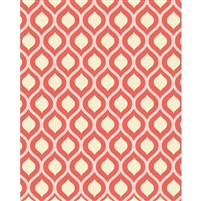 Orange Retro Waves Patterned Printed Backdrop