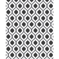 Grayscale Retro Waves Patterned Printed Backdrop