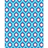Purple & Blue Retro Waves Patterned Printed Backdrop
