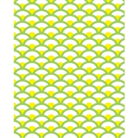 Yellow & Green Scales Patterned Printed Backdrop